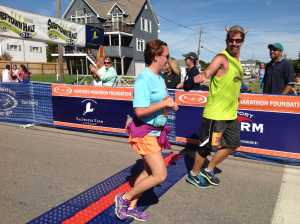 Bryan Ganley paces across the finish line at Surftown 9/15/2013.