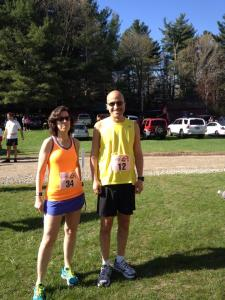 Eric and Maryanne -- enjoying the morning at the Foster half marathon