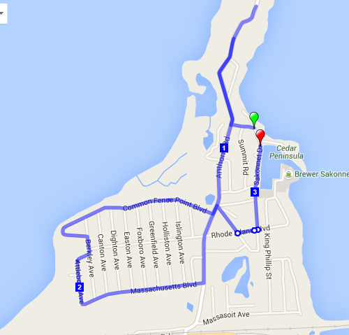 Beat Santa Course Map 2015